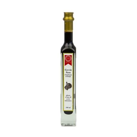 Goccia nera aromatizzata al tartufo a base di aceto balsamico