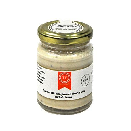 Aged Pecorino Romano Cheese And Black Truffle Sauce